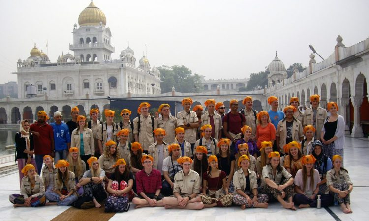 Group at Sikh Temple, Delhi