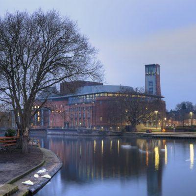 RSC at night, Stratford-upon-Avon