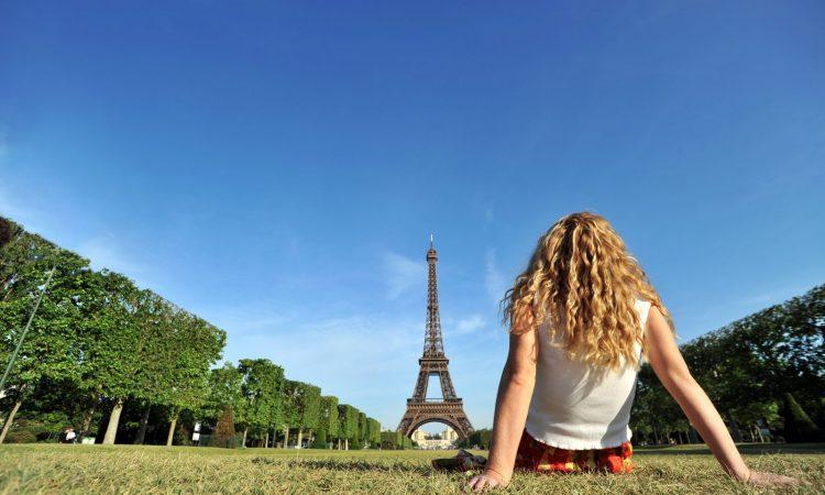 Eiffel Tower & Girl, Paris